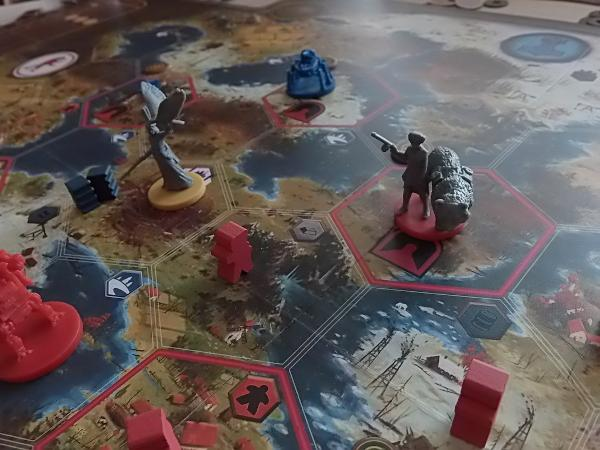 Scythe, gameboard, characters