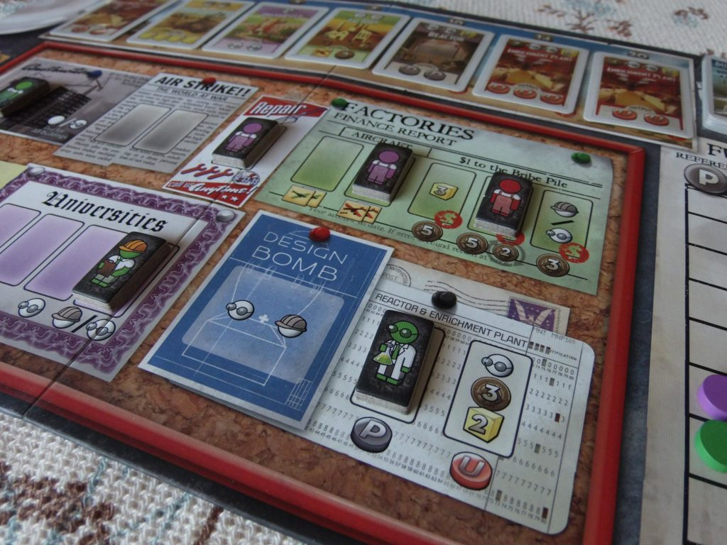 The Manhattan Project, gameboard
